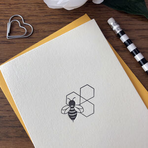 'Bee' Letterpress Card