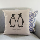 Personalised Penguin Pairs Cushion