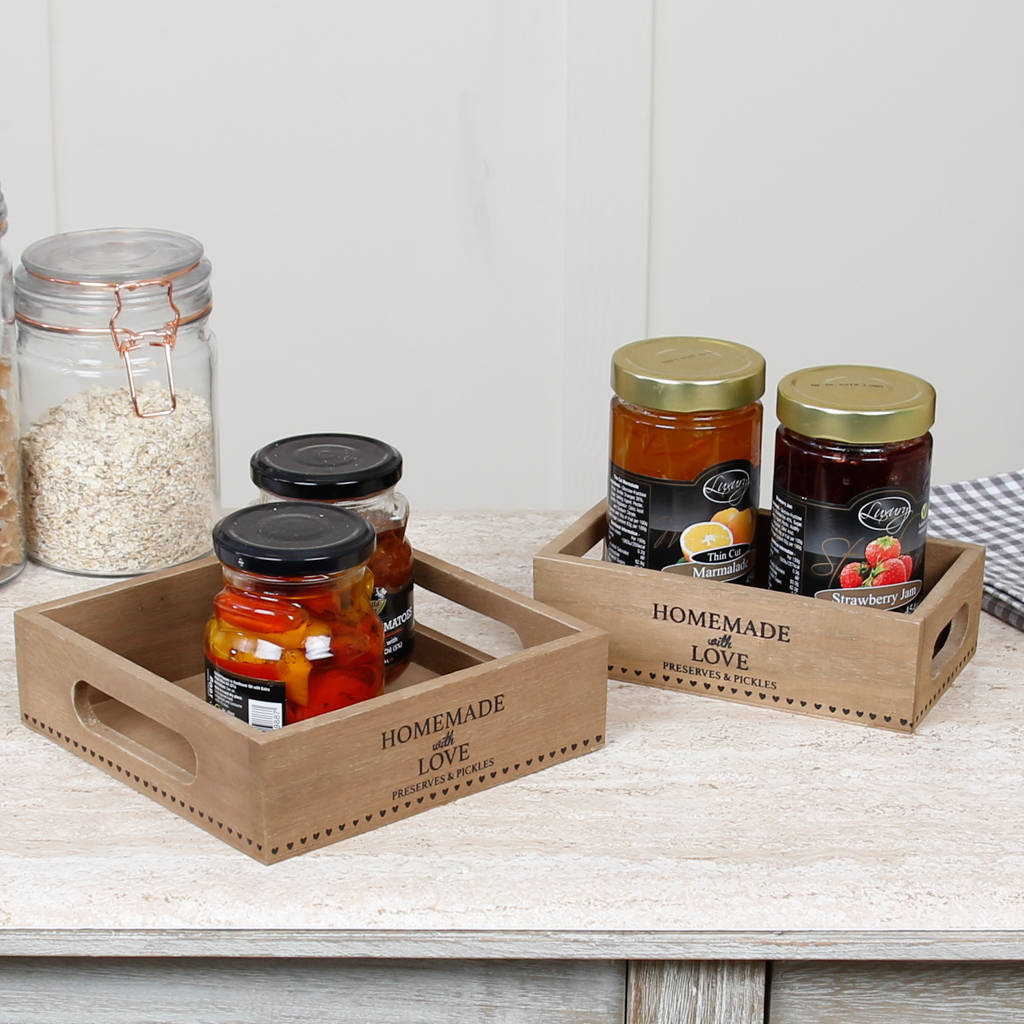 homemade with love preserves and pickle crate selection by dibor ...