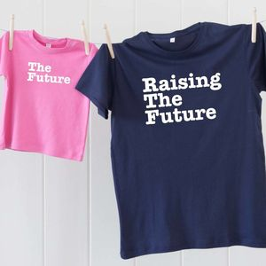 Father And Child The Future T Shirt Set