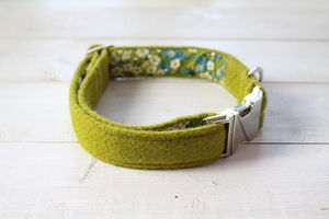 Campbell Harris Tweed Dog Collar - dogs