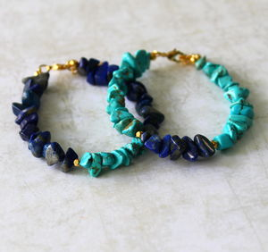 Children's Turquoise Nugget Stone Bracelet - children's jewellery