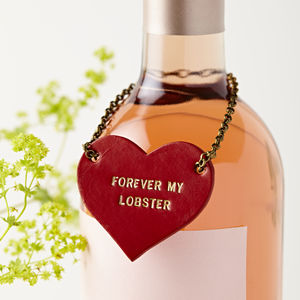 Personalised Leather Couples Bottle Tag - 3rd anniversary: leather