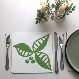 Leaf And Berry Place Mat Set Of Two