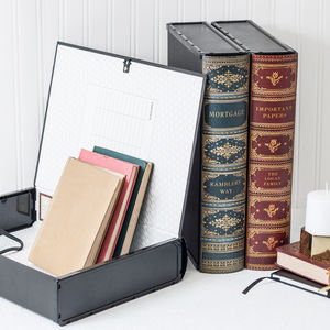 Personalised Book Box File Or Ring Binder - storage & organisers