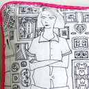 Hand Drawn Trendy Wendy Cushion