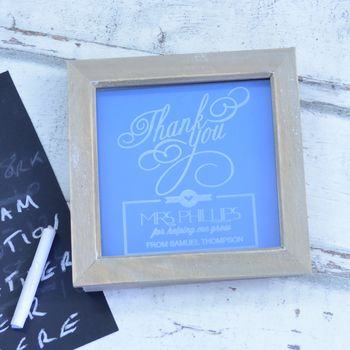Thank You Teacher Personalised Framed Picture