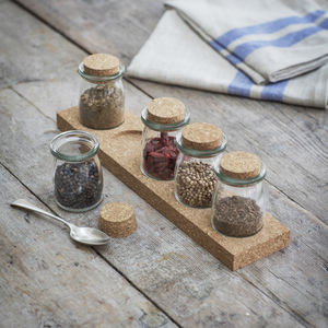 Cork Spice Rack - kitchen