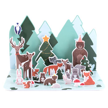 Paper Forest Animal Christmas Advent Calendar