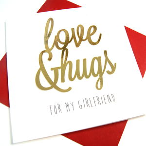Girlfriend Love And Hugs Card - new in