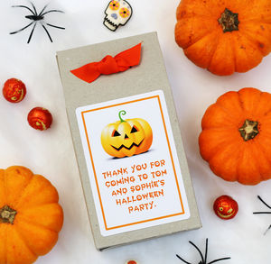 Personalised Halloween Pumpkin Gift Box|Party Bags