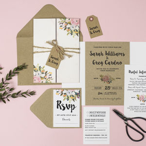 'Bloom' Wedding Invitation - wedding stationery