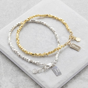Personalised Nugget Bracelet - jewellery for women