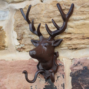 Deer Head Wall Hook - art & decorations