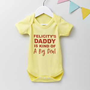 'Big Deal' Personalised Baby Grow