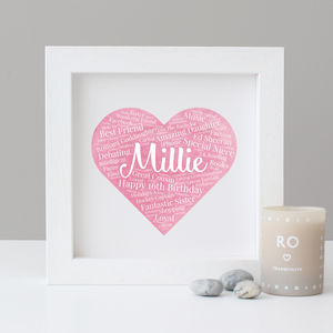 Personalised Watercolour 16th Birthday Gift - personalised