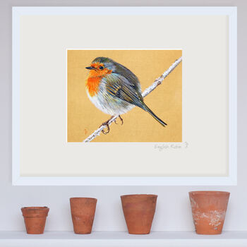 English Robin, Signed Giclee Print Of Original Painting