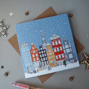 Amsterdam Christmas Card - cards