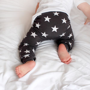 Grey Star Child And Baby Leggings