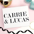 Personalised Bride And Groom Name Wedding Gift Box