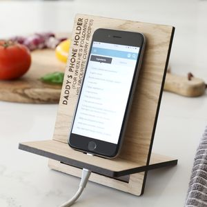Men's Personalised Wooden Phone Holder