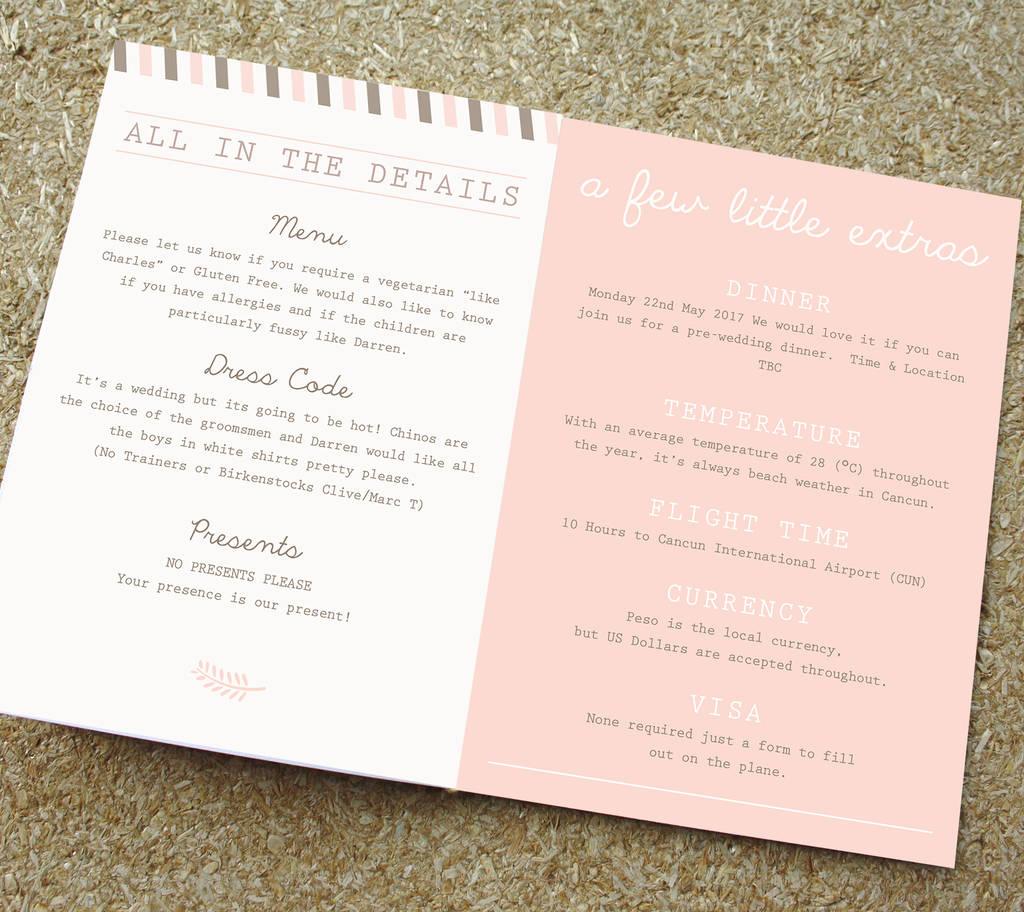 blush passport wedding invitation travel booklet by rodo creative ...
