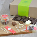 Personalised Lollipop Making Kit: Chocolate Hearts