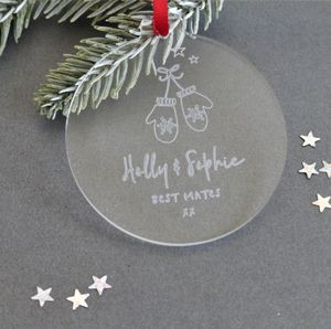 Best Mates Personalised Christmas Bauble Decoration