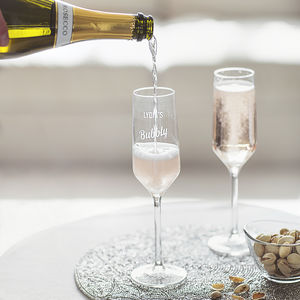 Personalised Prosecco Glass - birthday gifts with free mainland uk delivery