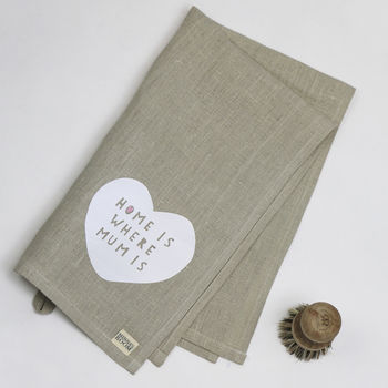 Mother's Day Linen Tea Towel