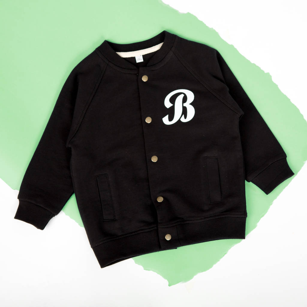 personalised toddler baseball bomber jacket by rusks&rebels ...