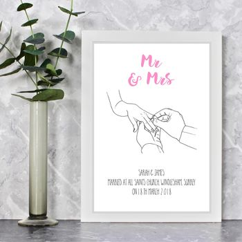 With This Ring Personalised Wedding Print