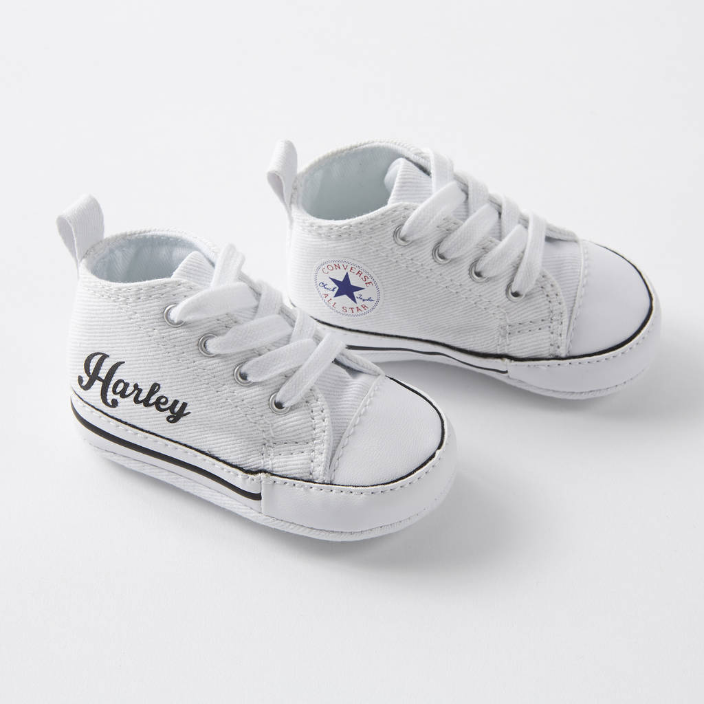 6bfc56a45004 baby converse sneakers personalised by yeah boo