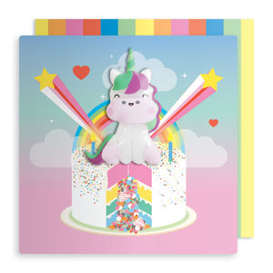 Jelly Magnet Unicorn Birthday Card