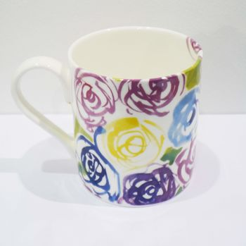 China Mug With Rose Design