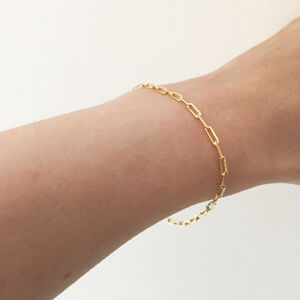 Gold Filled Elongated Chain Bracelet