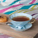 Baby Blue Tea Cup And Saucer
