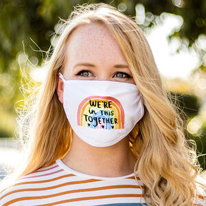 Charity 'We're In This Together' Positivity Face Mask
