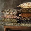 Earthy Block Printed Fringed Cushions