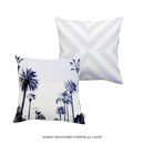 Tropical Palm Tree Avenue Print Cotton Cushion