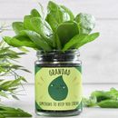 Personalised Strong Spinach Jar