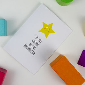 Little Star Christening Card