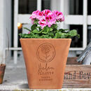 Engraved Birthflower Plant Pot