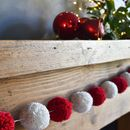 Red And Cream Pom Pom Garland