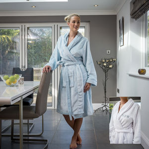 Personalised Supersoft Fleece Dressing Gown - lingerie & nightwear