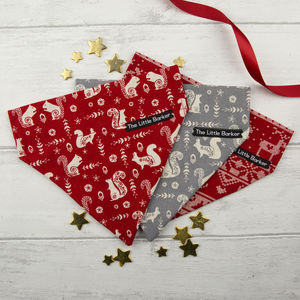 Christmas 'Scandi' Fabric Bandana For Dogs