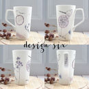 Bone China, Hand Decorated Latte Mug