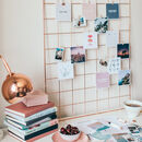 Rose Gold Wall Grid/ Inspiration Board/ Wall Decor