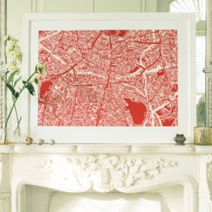 South West London Framed Illustrated Map Print