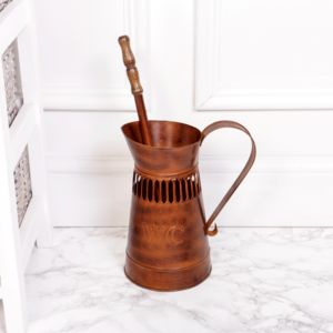 Rust Copper French Toilet Brush Holder - toilet brushes